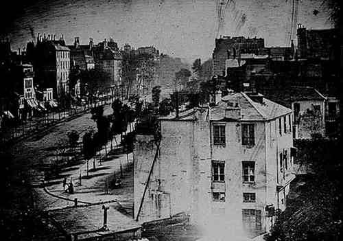 1839 photograph of a boulevard in Paris/Daguerre - early for this board -but, it's neat