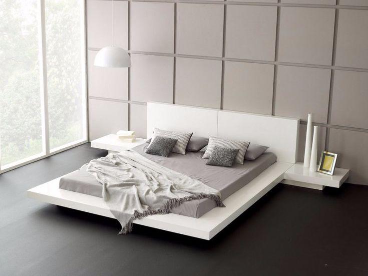 Floating suspension bed design | www.masterbedroomideas.eu #masterbedroom #bedroomideas #floatingbed #beddesign #bedideas #suspensionbed
