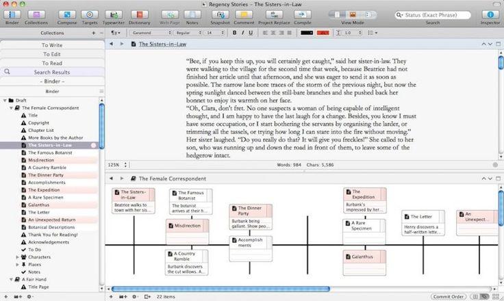 Scrivener Timeline