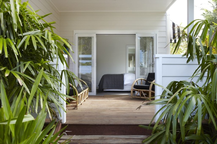 Bedroom onto decking