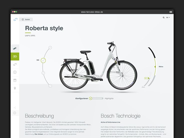 A sneak peek on the new Hercules product page, explore the bike by customize it or view highlights to see the details.  More is coming soon