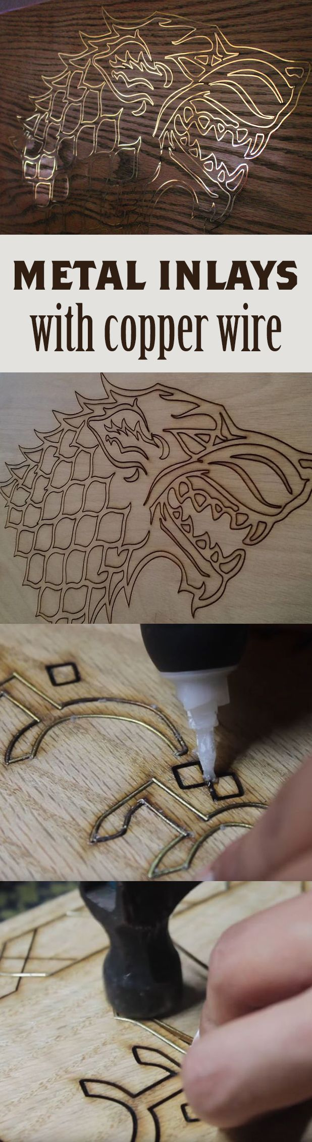 Make your woodworking with copper inlays really unique. #diywoodprojects #unique #woodworking #coppering # making #wine
