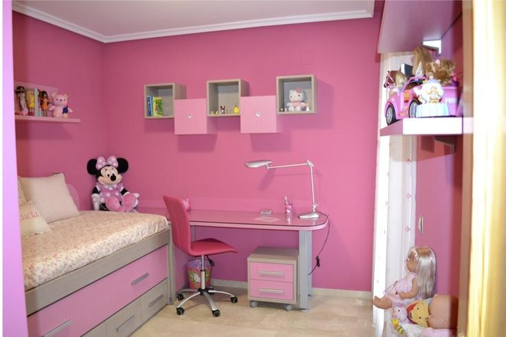 Ejemplo dormitorio juvenil ni a hogar y decoraci n - Decoracion habitaciones juveniles nina ...