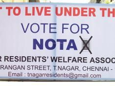 NOTA - Board by T Nagar Residents