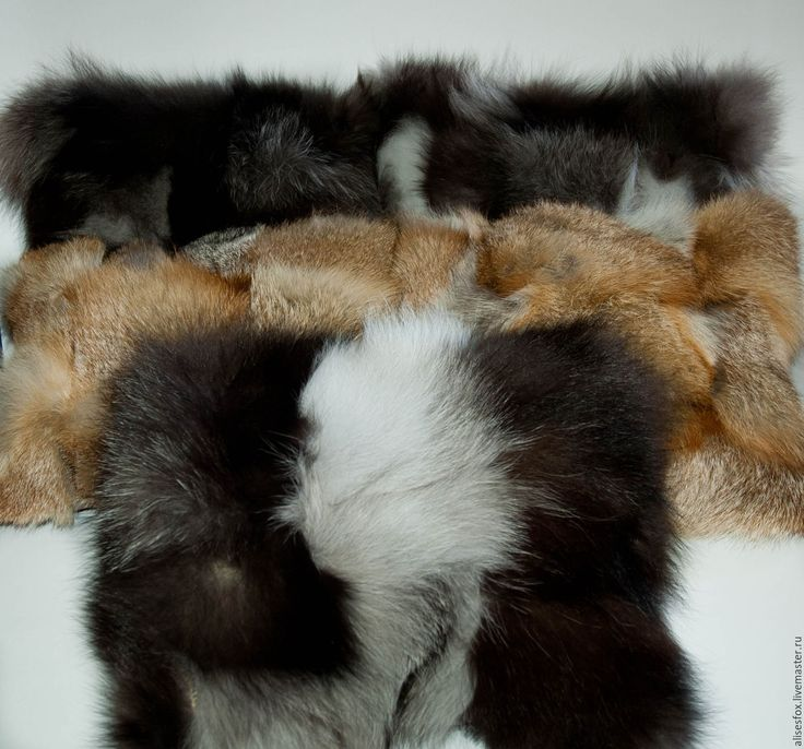 Купить Подушки из меха чернобурки и лисы - серебряный, мех, мех натуральный, Меховые подушки, подушка