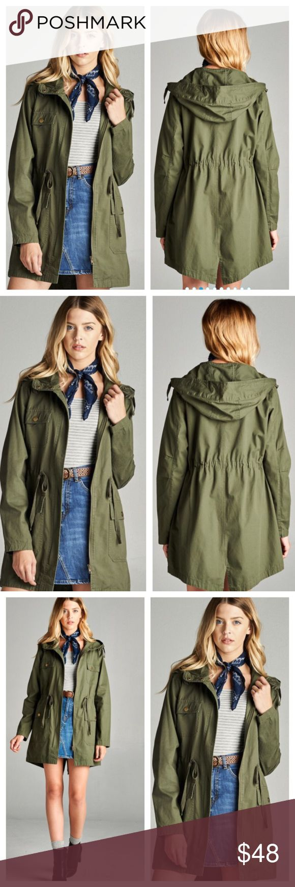 ‼️C0MING SOON‼️ Olive Utility Jacket Brand New, Olive Utility jacket. Jackets & Coats Utility Jackets