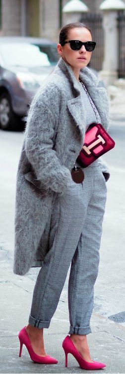 Hermes - pink and grey. #fashion #chic