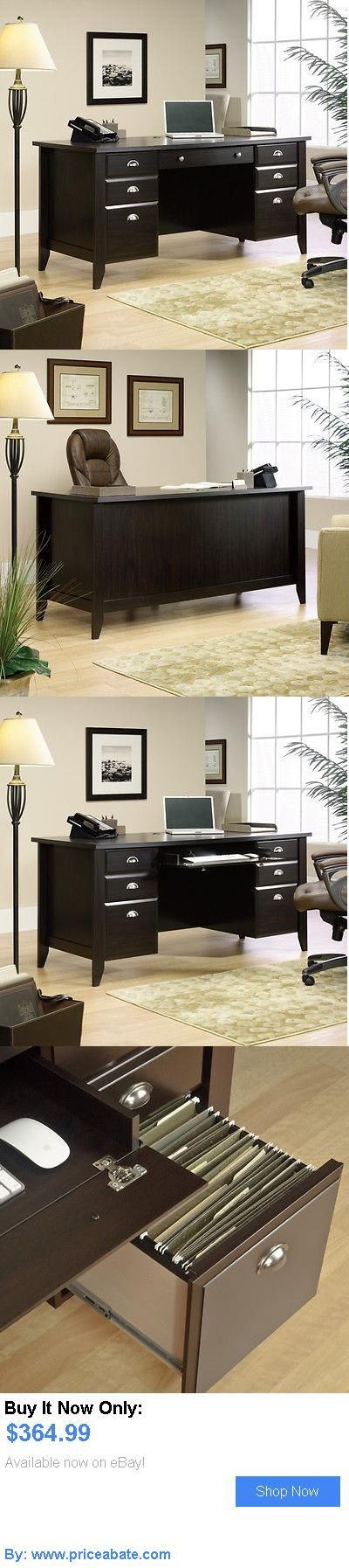 Office Furniture: New Sauder Furniture 408920 Home Office Shoal Creek Dark Wood Executive Cpu Desk BUY IT NOW ONLY: $364.99 #priceabateOfficeFurniture OR #priceabate