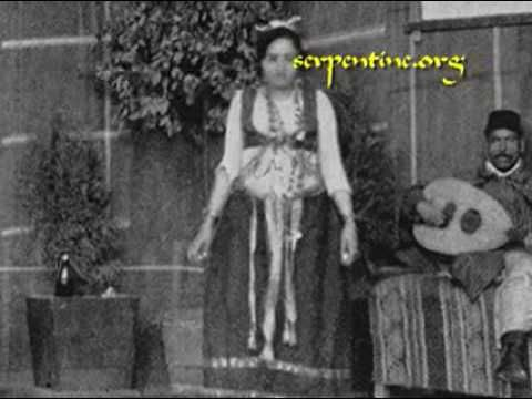 "Exposition Universelle 1889: Rue du Caire & les Almees | 3:35 in the video touches upon the scandalously uncorseted dancing, or ""danse du ventre,"" that introduced belly dance to the Western world.  A good look at what the women in the ""Egyptian"" pavilion wore, and some of the instruments played."