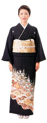 Kurotomesode Sekaibunkasha- is the most formal kimono for married women, usually used by mothers of the bride and the groom at a wedding. It is a Japanese clothing