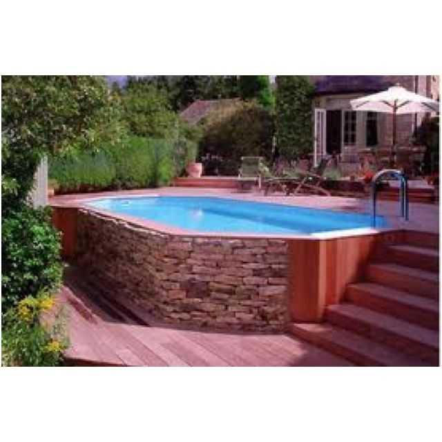Luxury Backyard Swimming Poolsoval Above Ground Pool Deck 43 best above ground pools images on pinterest | backyard ideas