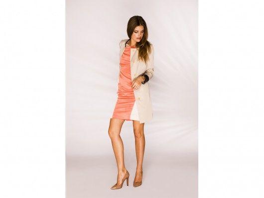kurtki i płaszcze-Minimalistyczny płaszcz damski