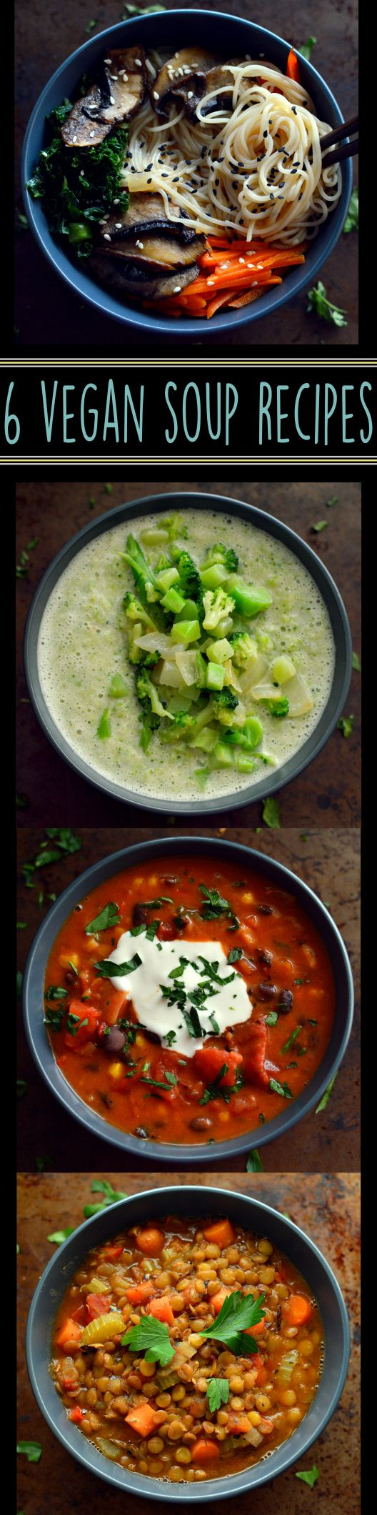 6 Vegan Soup Recipes - Easy Cheap - Rich Bitch Cooking Blog