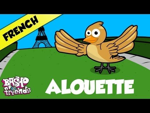 "▶ ""Allouette French Nursery Rhyme"" Learn French with BASHO & friends - YouTube"