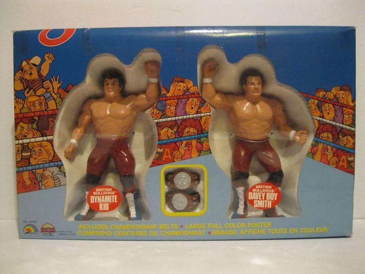 Rare Brand New 1986 LJN WWF Wrestling Superstars Tag Team British Bulldogs