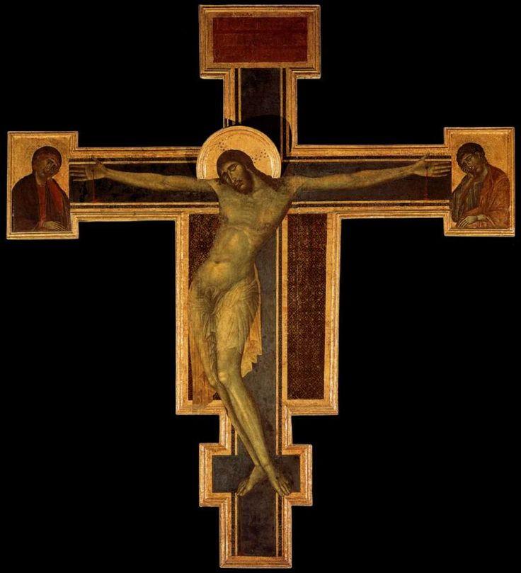 Распятие.Чимабуэ. 1287-88 гг. Церковь Санта Кроче, Флоренция.
