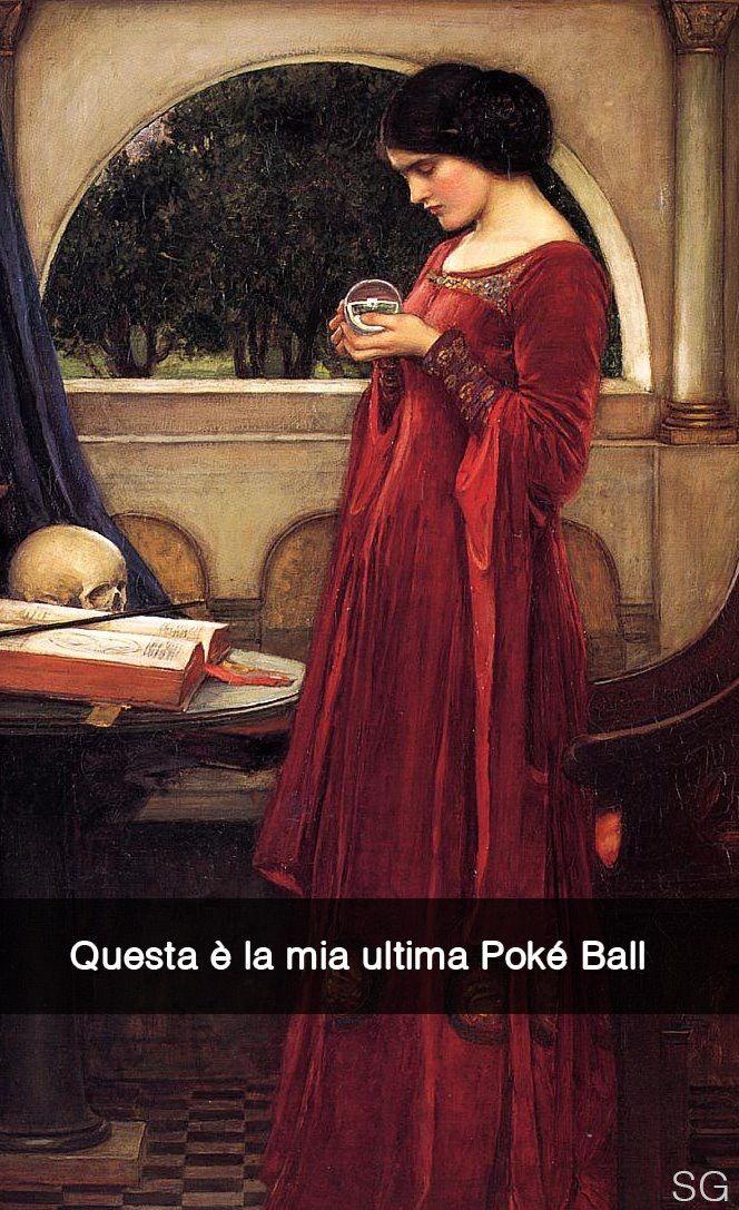 """John William Waterhouse . """" La sfera di cristallo """""""
