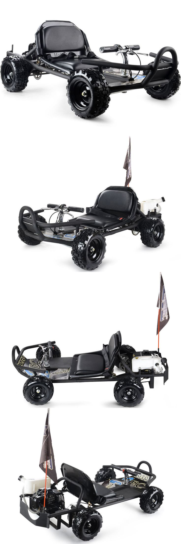 Complete Go-Karts and Frames 64656: Black 49Cc Gas Go Kart 2 Cycle Mototec Sandman Mt-Gk-10_Black 8In Knobby Tires BUY IT NOW ONLY: $629.0