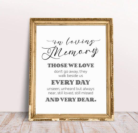 Loving Memory, Wedding Memory Candle Sign, Wedding Memory Sign, In Loving Memory, Wedding Quotes, Wedding Quote Sign, Memory Quotes Sign