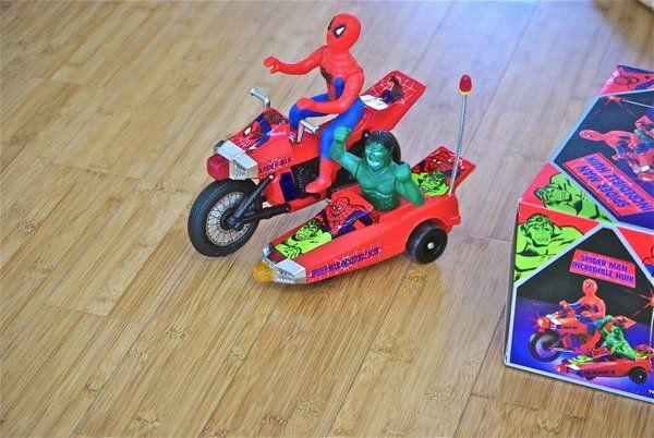I still want to see this Hulk and Spider-man motorcycle toy work.  #vintagetoys #spiderman #hulk http://www.amazon.com/Jonathon-Jones/e/B006PE7K8U/ref=dp_byline_cont_ebooks_1  Keywords: incredible hulk spiderman vintage toys 1970s 1970's comics comic books ebooks kindle