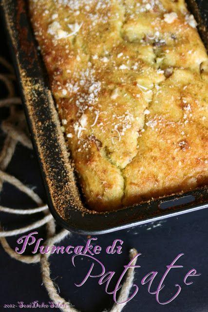 Plumcake di patate con pesto e speck. #ricetta