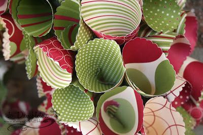 Christmas Paper Wreath
