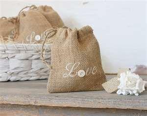 Personalized Wedding Favors - Rustic Burlap Bag - Favor Couture  http://www.favorcouture.theaspenshops.com