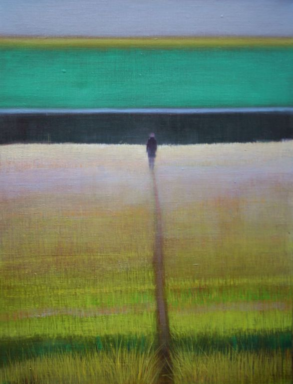 "Saatchi Art Artist: Thomas Lamb; Oil 2013 Painting ""Path in Long Grass II"""