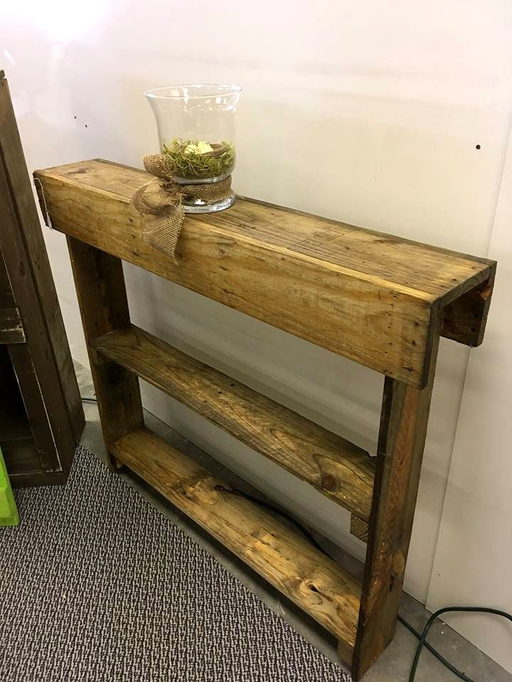 Wooden Pallet Entryway Table | 99 Pallets