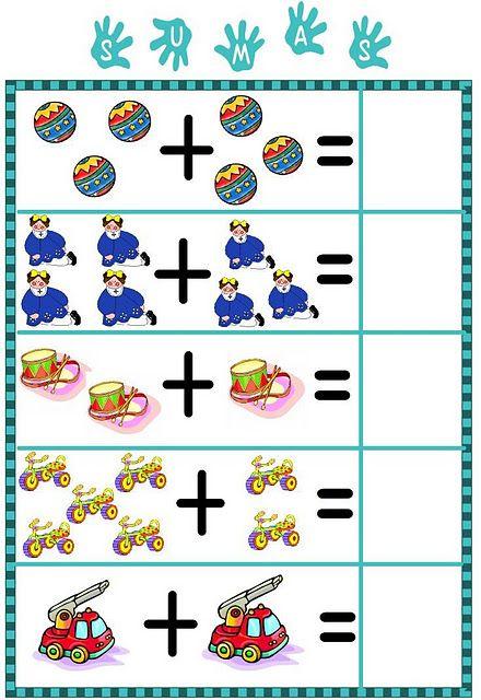 Resultado de imagen para hoja de trabajo de las sumas