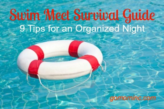 Because if your summer includes swim team, you know exactly what I mean! Swim Meet Survival Guide ~ 9 Tips for an Organized Night #swim #summer #teammom