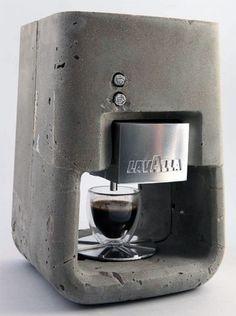 {conceptual} concrete home espresso machine shmuel linski #concrete