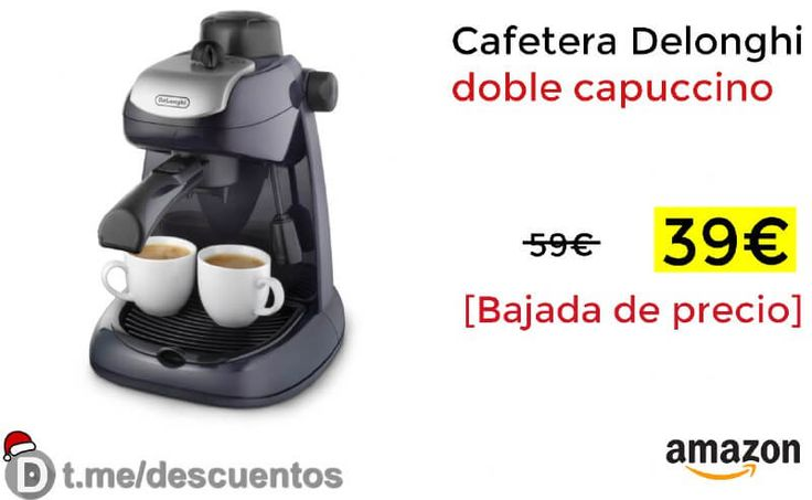 Cafetera Delonghi doble capuccino disponible por 39 - http://ift.tt/2BMJawy