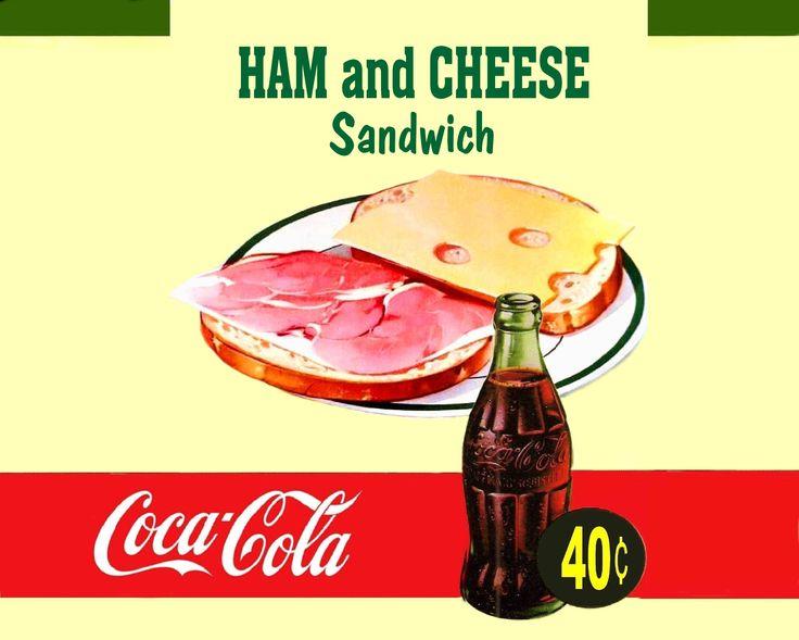 coca cola and sandwich
