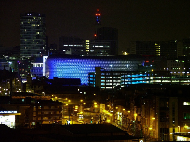 Birmingham Bull Ring Nighttime by bukwheat, via Flickr Birmingham, UK #england #birmingham