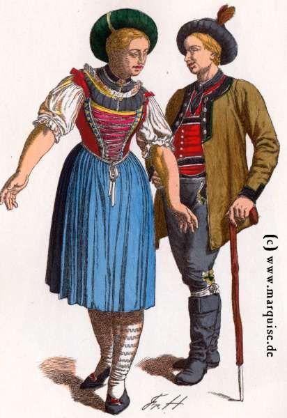 Tegernsee: Bauersleute, um 1800