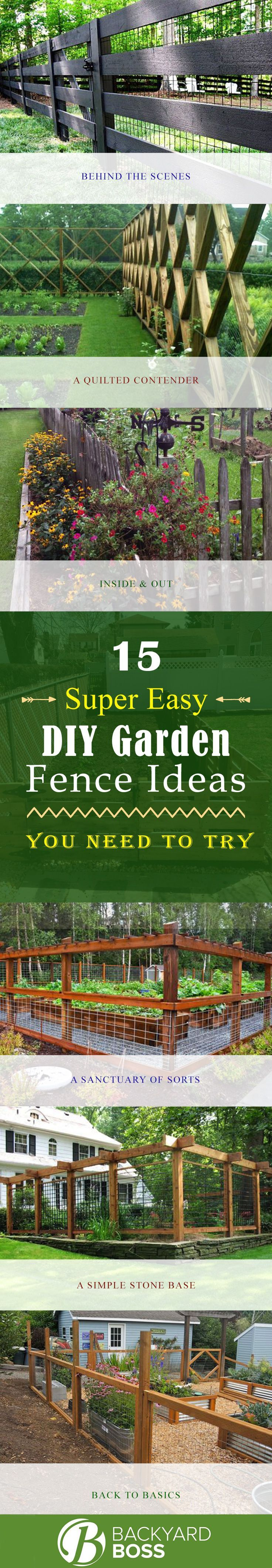 15 Super Easy DIY Garden Fence Ideas You Need to Try
