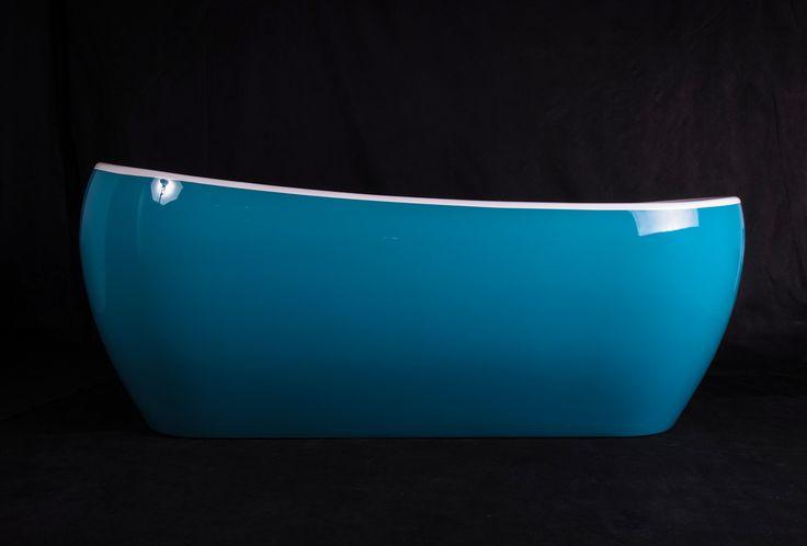 Wanna wolnostojąca Ravon Elisium z materiału QualTec, w kolorze light blue http://www.ravon.pl/