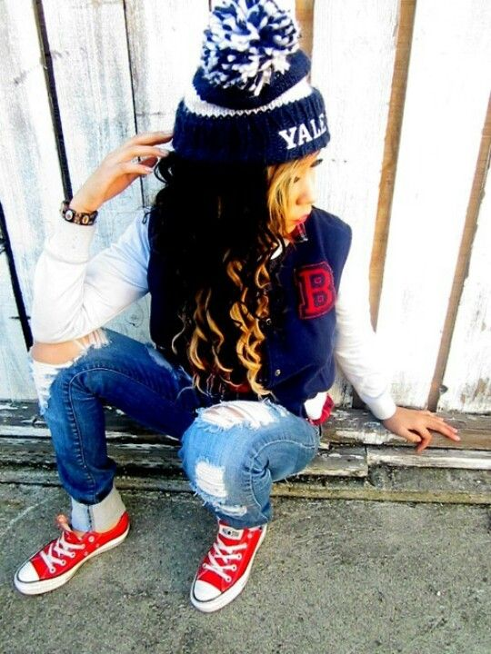 Cute outfit converse letter man jacket clothes