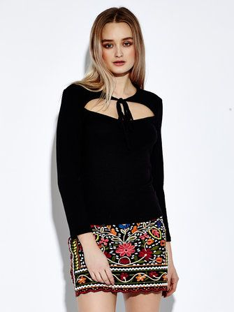 Bohemian Floral Embroidered Women High Waist A-Line Mini Skirt