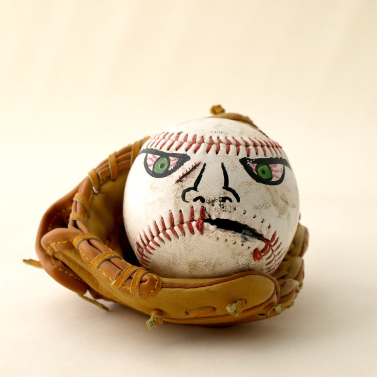 Hand Painted Baseball Funny Face - Buddy