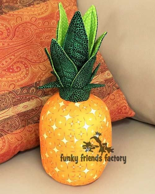 Sewing pattern for pineapple pillow