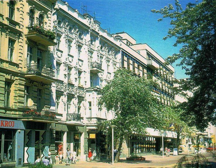 Łódź Poland, ul. Piotrkowska, połowa lat 90tych.