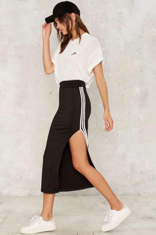 Track Record Slit Skirt