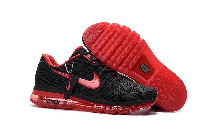 Nike Air Max 2017 2 Heren Loopschoenen Zwart Rood