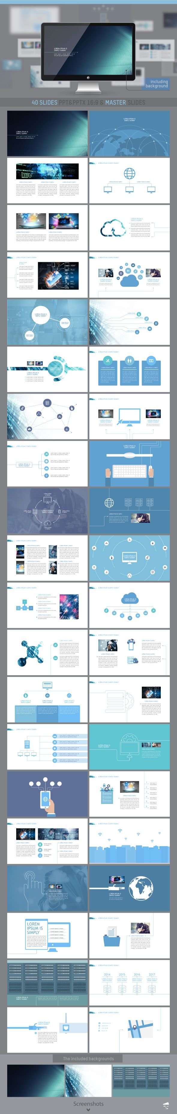 Professional presentation for Information Technology  #template #presentation • Download ➝ https://graphicriver.net/item/professional-presentation-for-information-technology/18539096?ref=pxcr