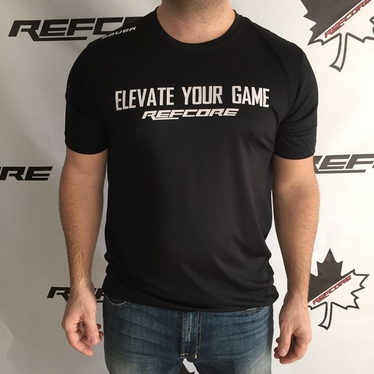 REFcore Elevate Your Game™ shirt by Bauer Hockey.  Great for a pre/post- game workout, or get for the gym. Referee apparel.  #hockeyapparel #refereeapparel #refapparel #refswag #hockeyswag #elevateyourgame #bauer #refcore #referee #refs #hockeyref #hockeyreferee #officiating