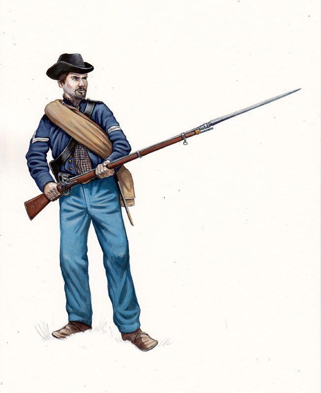 Union; 26th Ohio Infantry, 1864. by Sascha Lunyakov.