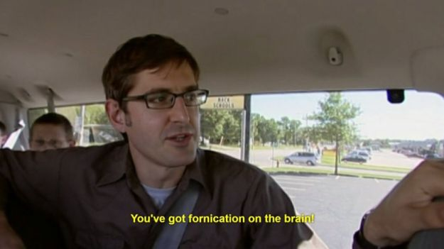 When someone doesn't bother with niceties and just jumps right in: | 19 Louis Theroux Screenshots That Perfectly Summarise Tinder