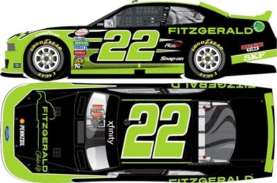 Collect your Joey Logano 2016 Fitzgerald 1:24 Nascar Diecast collectible car today!